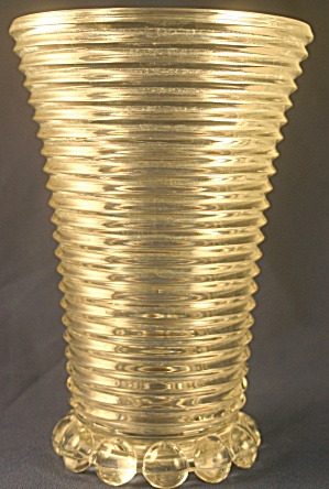 "Crystal Anchor Hocking ""Manhattan"" Vase (Image1)"