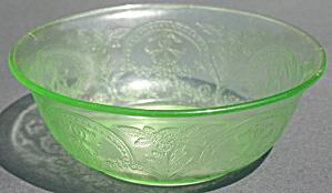 Green Indiana Glass No. 610 Horseshoe Salad Bowl (Image1)