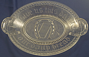 Horseshoe (Good Luck, Prayer Rug) Bread Plate