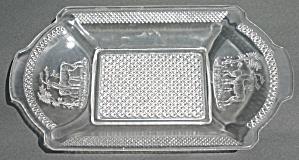 McKee Deer and Pine Tree Bread Plate (Image1)