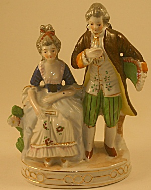 Occupied Japan Colonial Couple Figurines