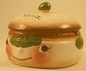 Deforest Of California Relish Jar With Lid
