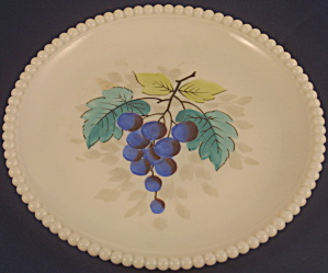 Beaded Edge Pattern #22 Milk Glass Salad Plate