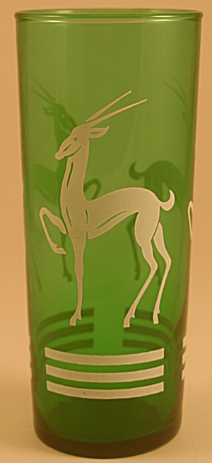 Anchor Hocking Forest Green Gazelle Iced Tea Tumbler