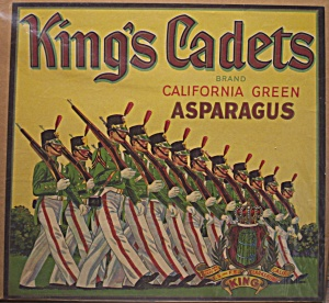 King's Cadets Asparagus Label (Image1)