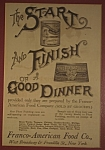 Click here to enlarge image and see more about item AD100: Franco-American Food Company Magazine Ad
