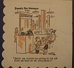 Click here to enlarge image and see more about item C002: Lot of 3 Dennis the Menace Cocktail Napkins