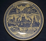 Click here to enlarge image and see more about item CD103: Vernon Kilns University of Notre Dame Souvenir Plate