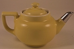 Click here to enlarge image and see more about item CD105: Small Yellow Hall Boston Tea Pot
