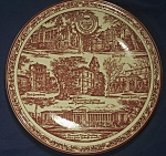 Click here to enlarge image and see more about item CD112: Vernon Kilns Oregon State College Souvenir Plate