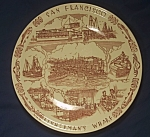 Click to view larger image of Vernon Kilns Fisherman's Wharf Souvenir Plate (Image1)