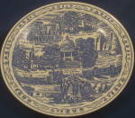 Click here to enlarge image and see more about item CD178: Vernon Kilns New Mexico Plate