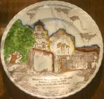 Click here to enlarge image and see more about item CD196: Vernon Kilns Mission San Diego Color Souvenir Plate