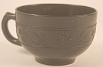 Click here to enlarge image and see more about item DG112: Black Hazel Atlas Cloverleaf Cup