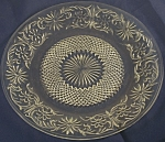 Click here to enlarge image and see more about item DG122: Indiana Glass Daisy Luncheon Plate