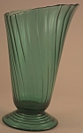 Jeannette Glass Ultramarine Swirl Vase (Scalloped Rim)