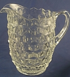 Click here to enlarge image and see more about item G102: Fostoria American 2 pint Pitcher