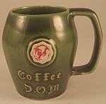 Click here to enlarge image and see more about item PDG107B: Unmarked McCoy D.O.M. Mug (Paint Loss)