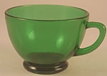 Click here to enlarge image and see more about item PDG112: Anchor Hocking Forest Green Punch Cup