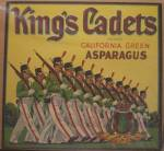 King's Cadets Asparagus Label