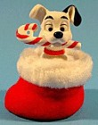 102 Dalmatian Christmas Boot Ornament - 2000 - MIP