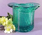 Avon Teal Glass Pitkin Top Hat - 1981-82