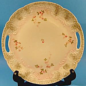 Bone China Handled Plate - Pink Rosebuds - (Image1)