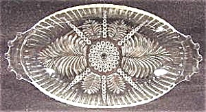 Pattern Glass Pickle Dish - Dewdrop And Plume