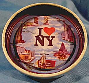 New York Metal Coaster Set - Wtc Towers - Vintage
