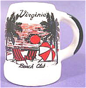 Pottery Mug - Virginia Beach Club Toothpick