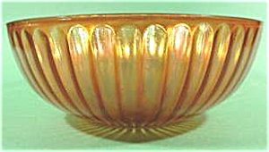Antique Marigold Carnival Glass Berry Bowl - 8 inch (Image1)