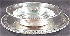 Silverplate Bowl With Underplate - Cheshire Silver