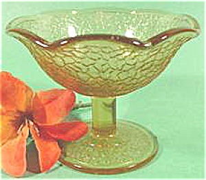 Amber Crackle Sherbet - 1920s - Mckee Glass