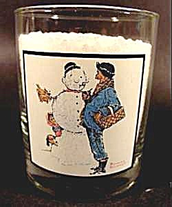 Drinking Glasses - Norman Rockwell Winter Scenes - Arbys