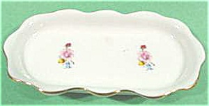 Porcelain Pin Dish - Floral and Gold Trim (Image1)