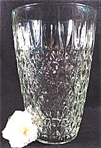Pressed Glass Diamond Quilted Pattern Vase - Large