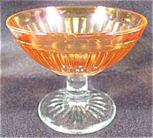 Round Robin Iridescent Depression Glass Sherbet