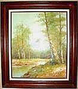 Landscape Painting - Signed - Framed