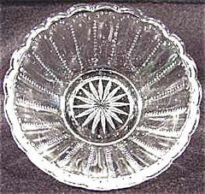 Pattern Glass - Fruit Or Sauce Dish Bowl - Dew Drop