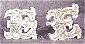 Sterling Silver Cuff Links - E Letter - Mexico (Image1)