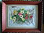 Watercolor Painting - Natural Cherry Frame - 1950s