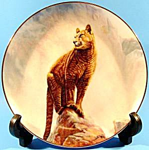 Mountain Lion Limited Edition Plate 1989 Signed Perillo