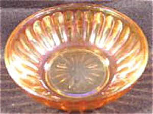 Carnival Glass Berry Bowl - Marigold