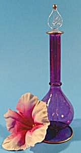 Perfume Bottle - Egyptian Style Lavender Glass