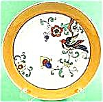 Oriental Bird Plate -  Lustre Bright Colors - Japan (Image1)