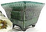 Planter - Hull A2 - Footed Square - Green