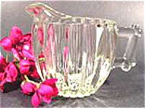 Clear Pattern Glass Cream Pitcher - Unmarked