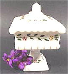 Wedding Cake Square Milk Glass Dish - Westmoreland