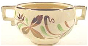 Grays Pottery Sunbuff Sugar Bowl (Image1)