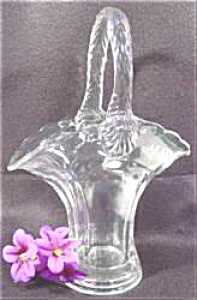 Antique Glass Basket - Duncan Miller - 9 In
